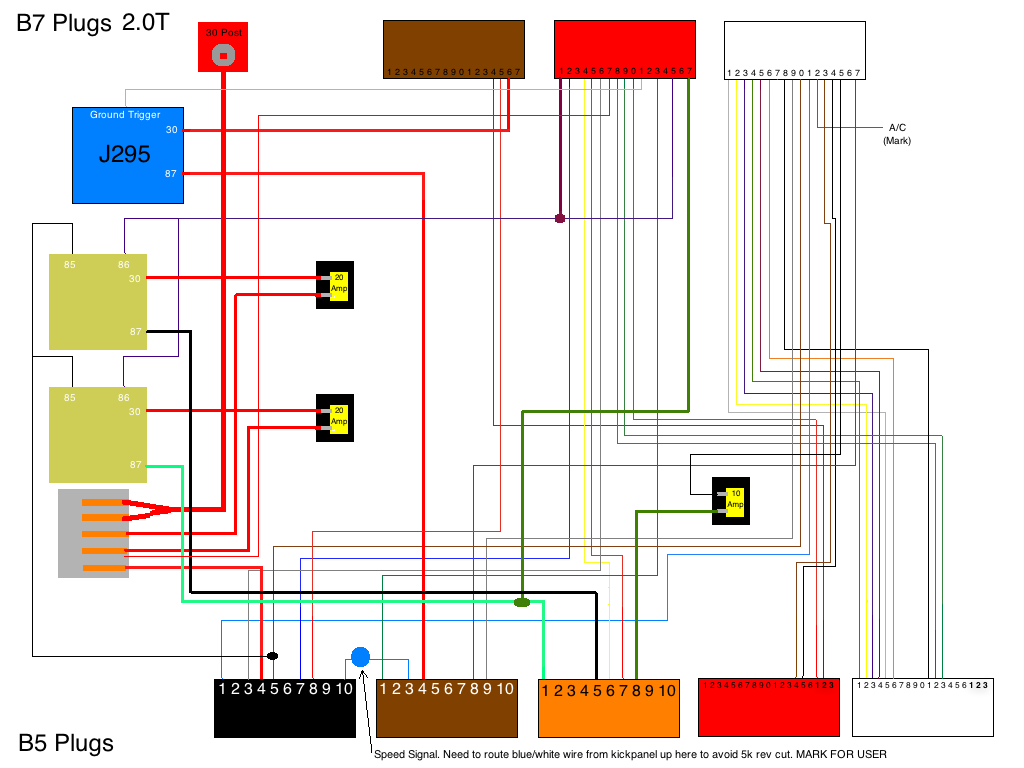 b7 to apb diagram **you will need to run a relay to trigger your fuel  pump***